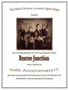 Rescue Junction – Black Walnut 20th Anniversary Celebration